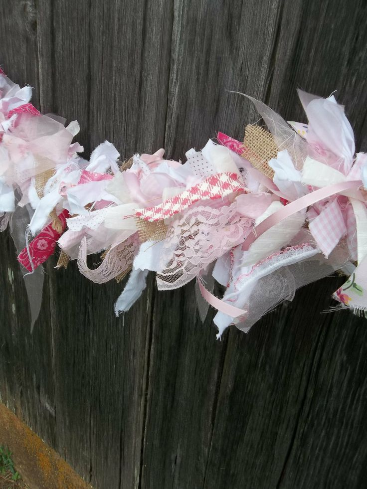Easter garland mantle garland for spring 72 custom colors - Telas shabby chic ...