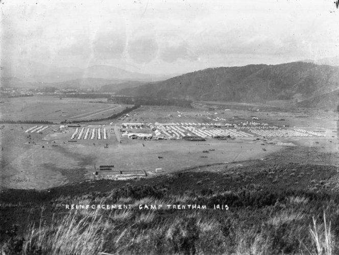 Overlooking Trentham Camp as it was in 1915