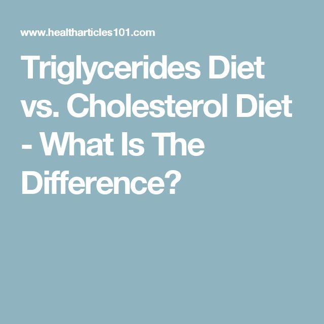 Triglycerides Diet vs. Cholesterol Diet - What Is The Difference?