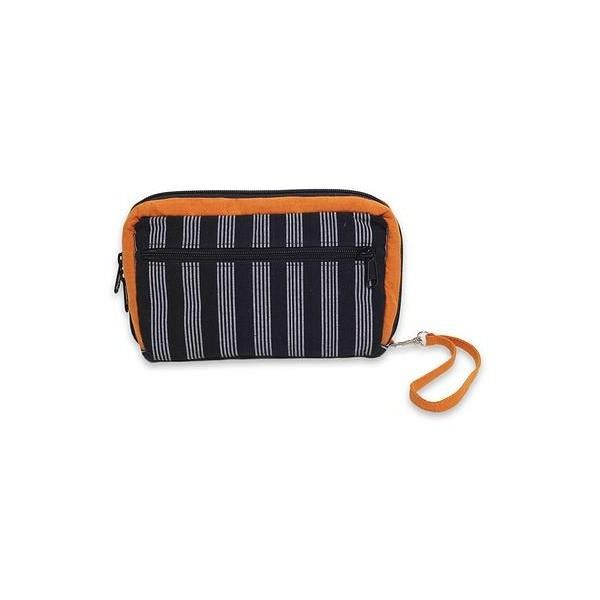 NOVICA Multi Pocket Wristlet Bag Hand Woven Monochrome Stripes ($30) ❤ liked on Polyvore featuring bags, handbags, clutches, accessories, black and white, clothing & accessories, wristlets, black white striped purse, hand woven bags and black and white handbags