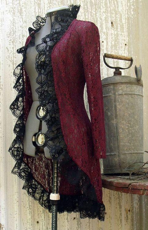 steampunkxlove:  Lace Jacket by Mean Kitty Wear
