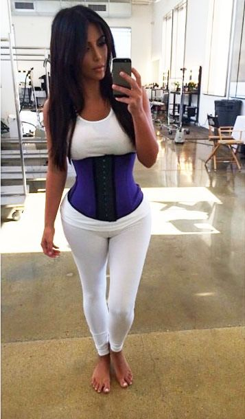 I Wore A Workout Corset Like Kim Kardashian…For Five Minutes - Check out http://www.flare.com/health/i-wore-a-workout-corset-like-kim-kardashianfor-five-minutes/ for the skinny on this waist-defying workout accessory