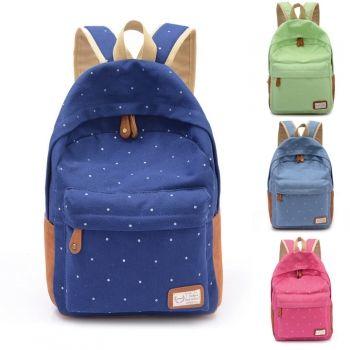 Hotsale Women's Canvas Travel Satchel Shoulder Bag Backpack School Rucksack