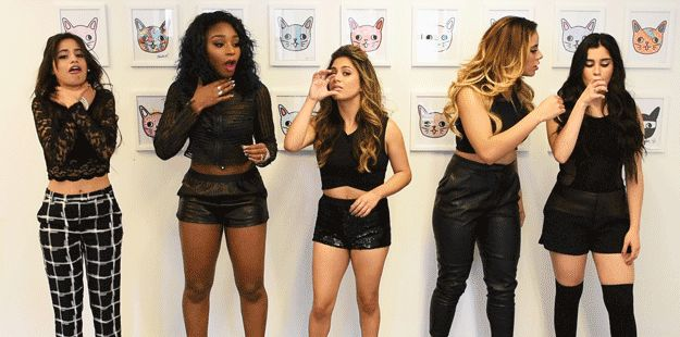 When you take a sip from someone else's drink. | 17 More Fifth Harmony Reaction GIFs