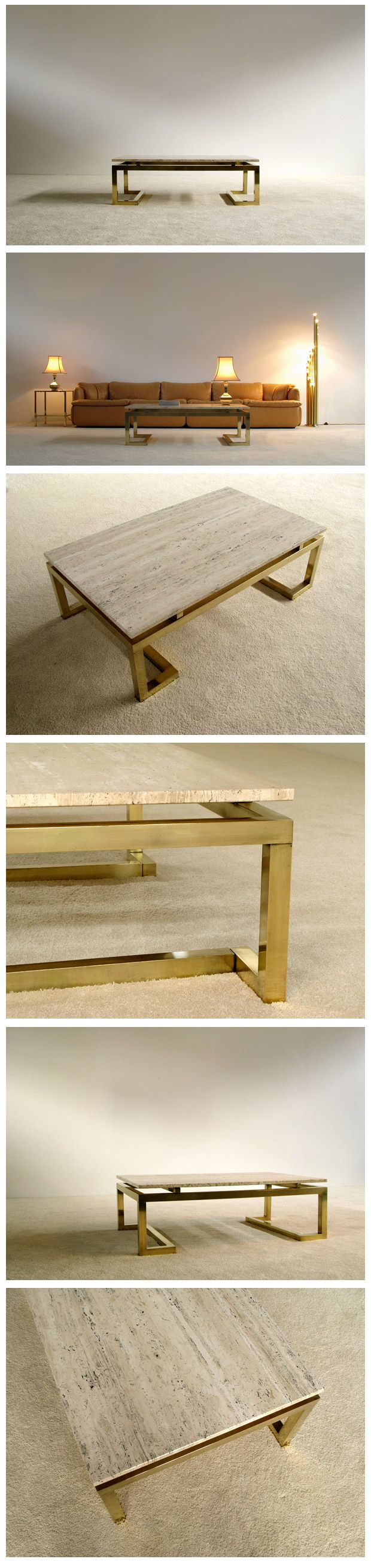 Modern rectangular elegant Regency Coffee Table