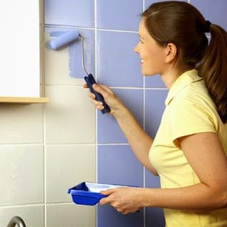 Home Improvement Ideas and Tips: Remove bathroom tiles - Old ceramic tile in a new dress  http://home-improvementips.blogspot.com/2013/09/bathroomremovetiles.html