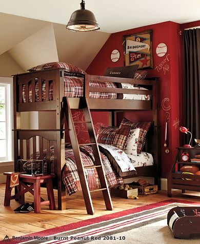 red accent walls red walls maroon walls big boy rooms kids rooms teen