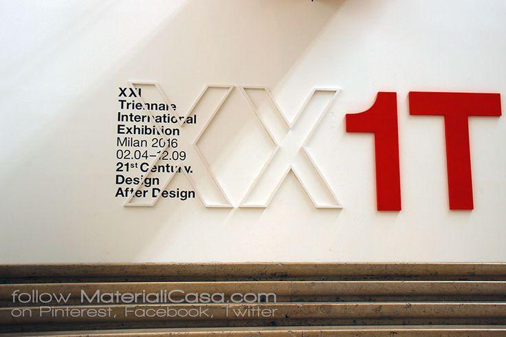 XXI @triennaledesign   #MDW2016 #MCaroundSaloni #MilanDesignWeek