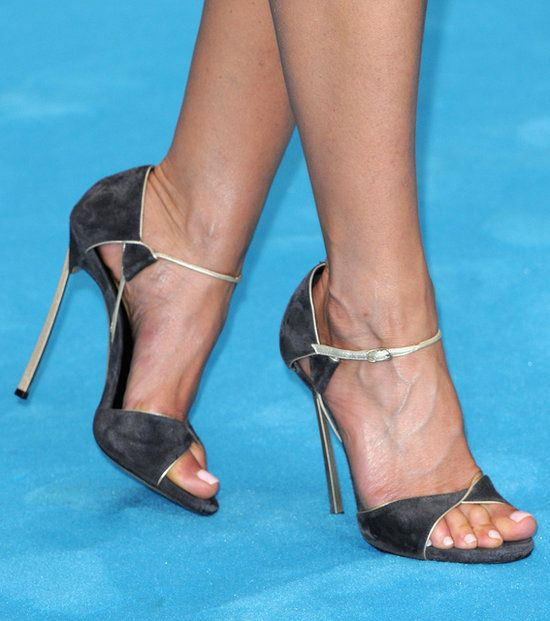 The Red Carpet Shoes That Seriously Wowed Us This Year: Jennifer Aniston picked simple but sexy heels for a We're the Millers stop in Europe.