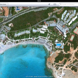 Nissi Beach Hotel from the sky!