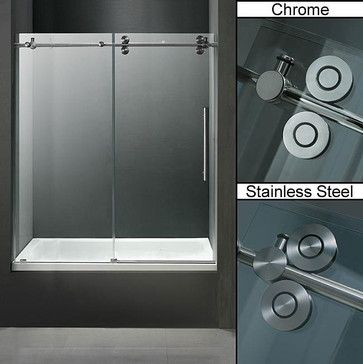 9 best images about shower barn door on pinterest hardware shower doors and stainless steel for Stainless steel bathroom doors