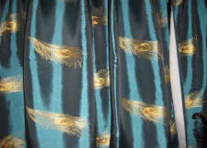 Peacock Drapes Curtains | PIER 1 Peacock Curtains 4 Panels   $100  (hattiesburg, Ms