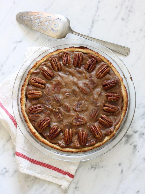 Salted Caramel Pecan Pie - Corn Syrup-Free, Gluten-Free, Paleo, Egg-Free