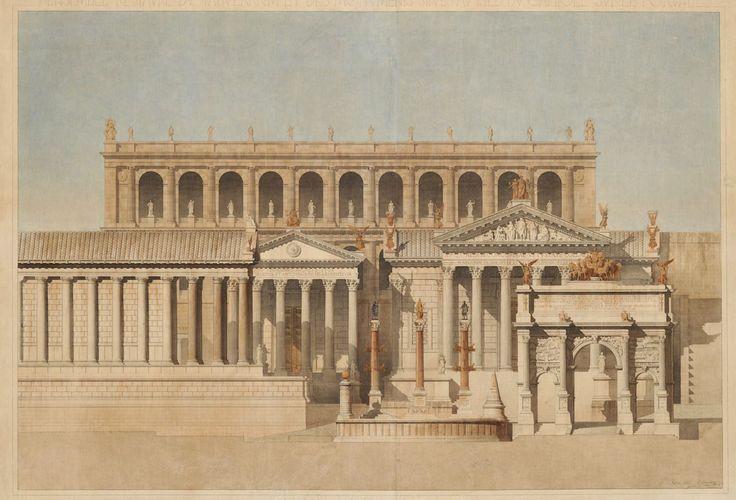Roman Forum reconstructed, Constant Moyaux 1835-1911