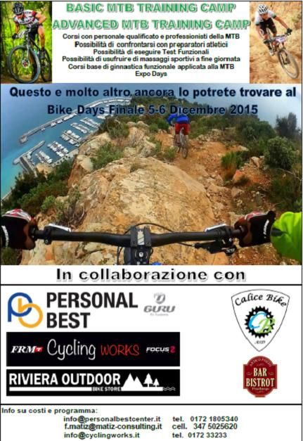 Two days basic & advanced mtb training camp riding the amazing #finaleligure trails, conferences & Expo in the fantastic Finalborgo old town.