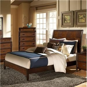 Progressive Furniture Solara Queen Contemporary Sleigh Bed with Low Footboard - Wayside Furniture - Platform or Low Profile Bed Akron, Cleve...