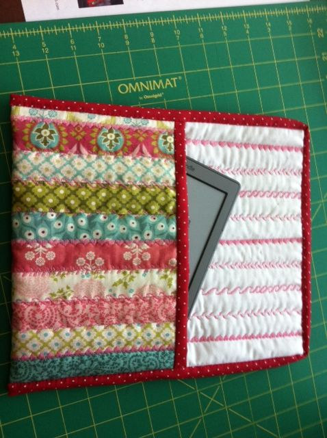 Lucy's kindle case - pattern from Moda Bake Shop