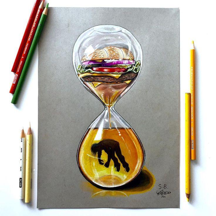 Ein britischer Künstler zeigt die harte Wahrheit über die moderne Gesellschaft, indem er Illustrationen provoziert