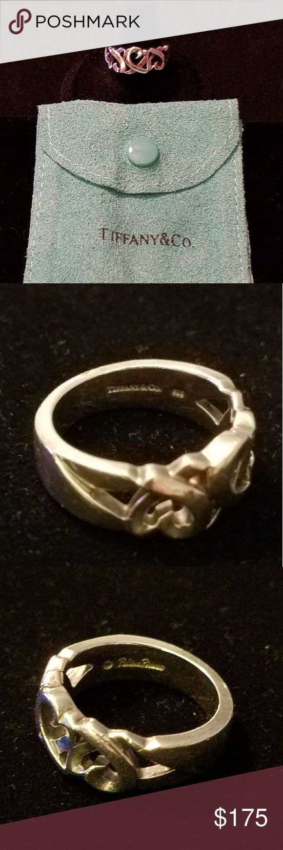Tiffany & Co. Paloma Picasso Loving Heart Ring Authentic Tiffany & Co.  sterling silver 925 Paloma Picasso heart ring in size 8. This item has been retired since the original purchase in 2008 at the Tiffany store at South Coast Plaza. It was worn on a regular basis at one point and does have some flaws as seen in the pictures. Tiffany & Co. Jewelry Rings