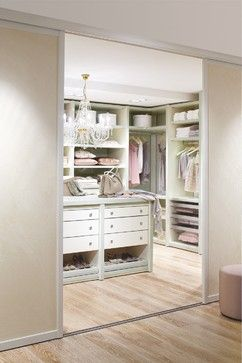 Great way to use space without a window. Walk in closet from CABINET, Germany traditional closet