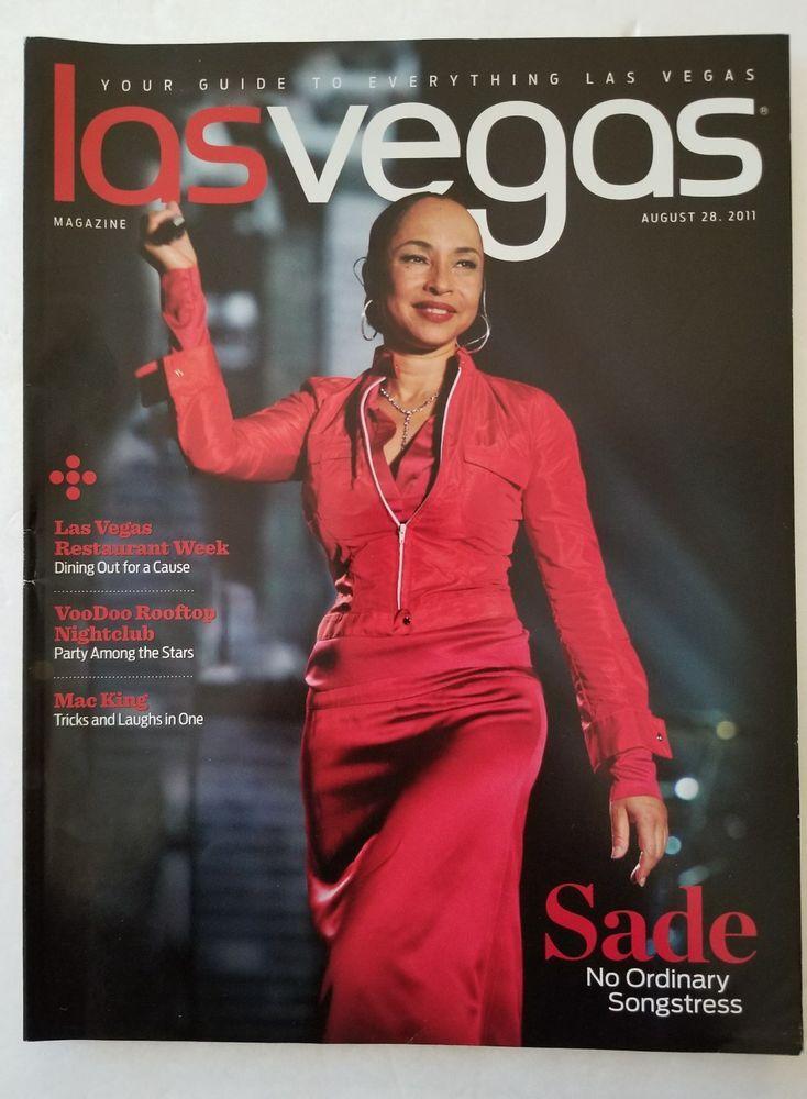 SADE on Cover Las Vegas Magazine, August 28, 2011