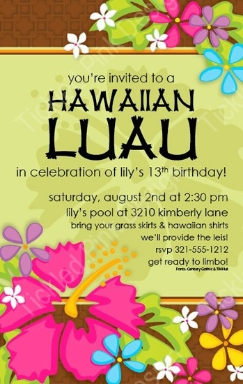 Tropical Luau Invitation  # papersopretty  .net # tickledpinkdsn