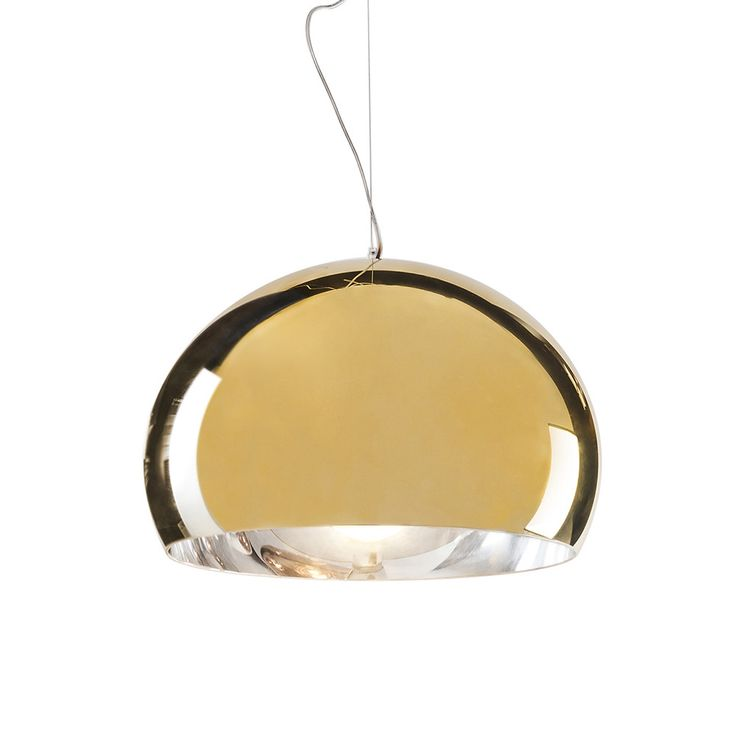Discover the Kartell FL/Y Suspension Light - Gold at Amara