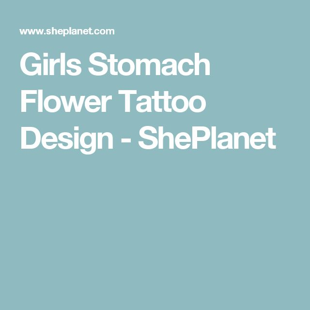 Girls Stomach Flower Tattoo Design - ShePlanet