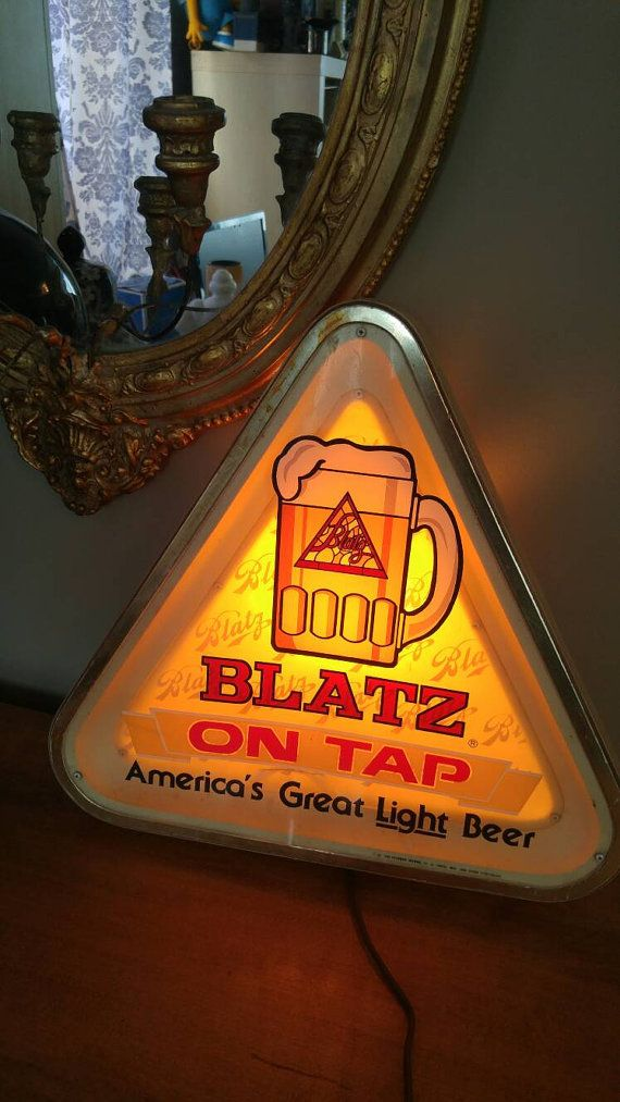 As I write this someone is getting bladdered under this Blatz sign.