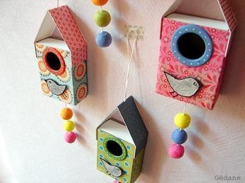 Idée de décoration en boites d'allumettes - par Gedane sur le #CDB