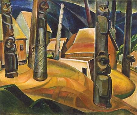 Emily Carr-Group of Seven- Kispiax Village