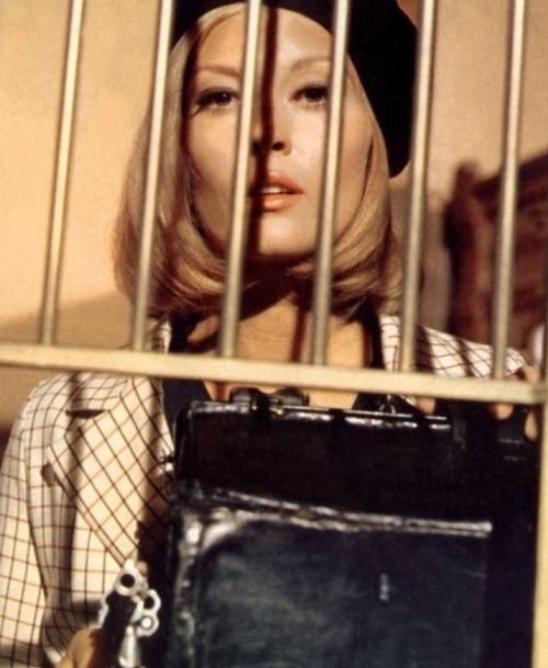 "Faye Dunaway in Bonnie & Clyde (1967, dir. Arthur Penn) (via)  ""Never have I felt so close to a character as I felt to Bonnie. She was a yearning, edgy, ambitious southern girl who wanted to get out of wherever she was. I knew everything about wanting to get out, and getting out doesn't come easy. But with Bonnie there was real tragic irony. She got out only to see that she was heading nowhere and the end was death.  There was a real kind of fierceness I'd seen in Bonnie that"
