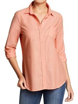 Women's Oxford Shirts | Old Navy - Bought it and I love it.