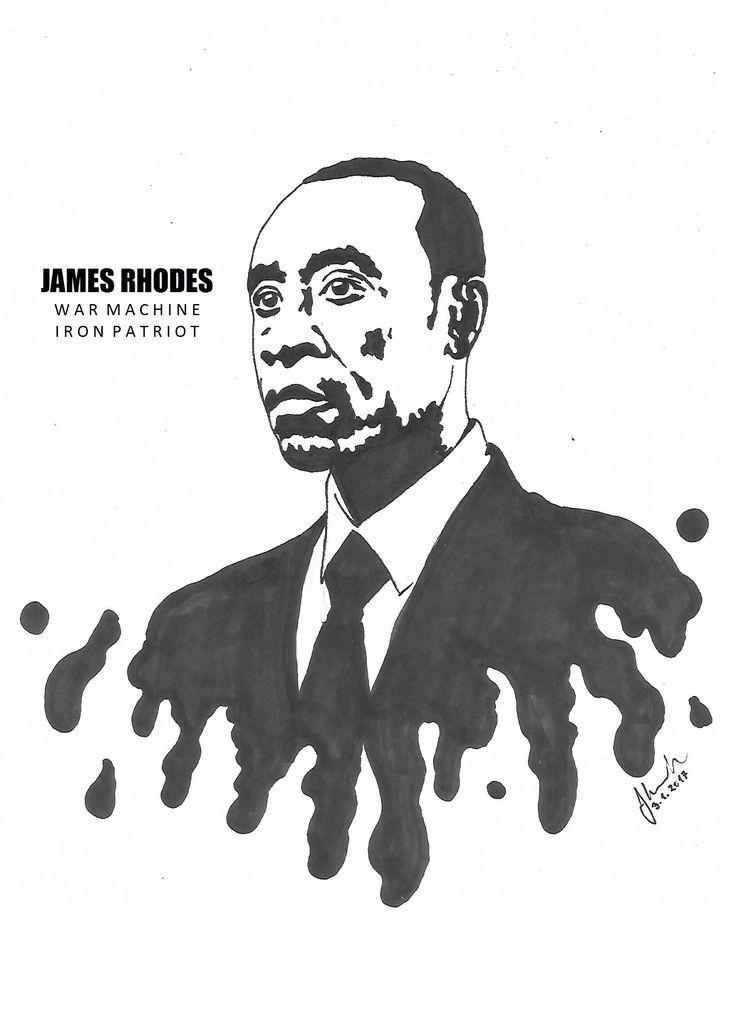 #james #rhodes #war #machine #iron #patriot #don #cheadle #drawing #blackandwhite #marvel #avengers