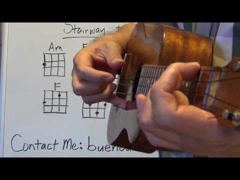 How to play Stairway to Heaven intro Ukulele Lessons - YouTube