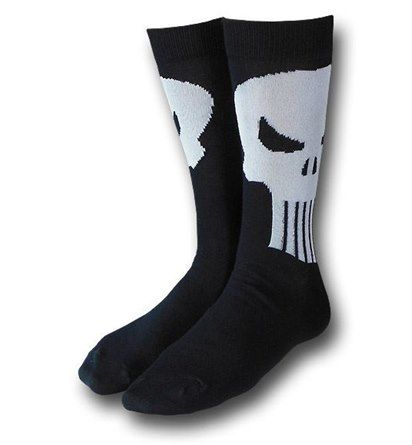 Images of Punisher Symbol Black Crew Socks