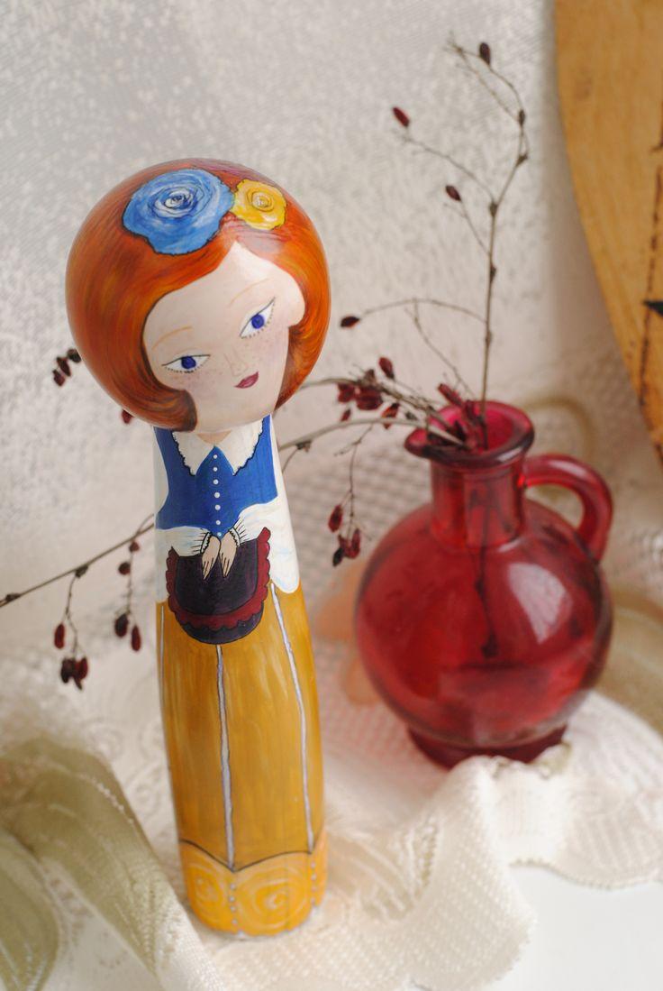 кукла кокэси, ручная роспись
