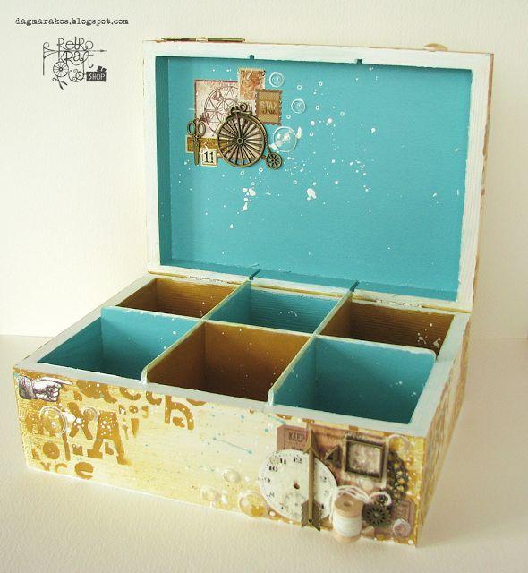 Retro Inspiracje: Bogate wnętrze pewnej skrzynki / Retro Inspirations: Rich inside of a box