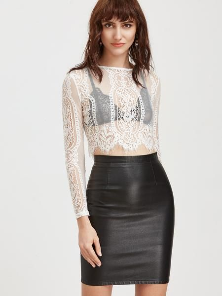 Taboo Lace Top | White