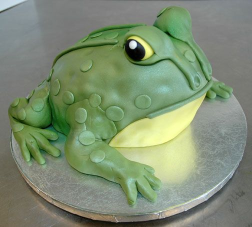 frog cake from front