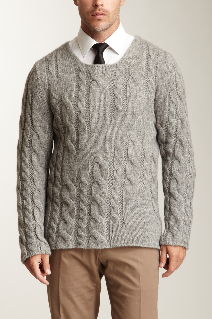 Valentino and Dolce & Gabbana  Valentino Collection Cable Knit Sweater