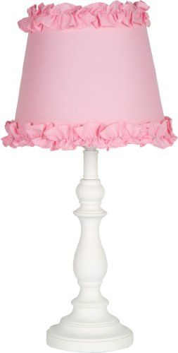 $27.89-$59.99 Baby Girls Table or Desk Lamp with Pink Ruffle Shade - GREAT PRICE! This Lamp features a graceful look using a antique candlestick shaped base and a fabric shade trimmed with ruffles to add the finishing touch. Very appealing look and matches very well with children's bedroom furniture. www.amazon.com/...