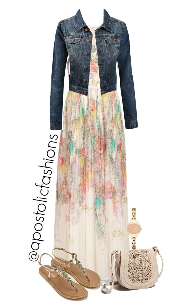 """""""Apostolic Fashions #1748"""" by apostolicfashions on Polyvore featuring Ted Baker, LE3NO, Accessorize, Big Buddha and Emporio Armani"""