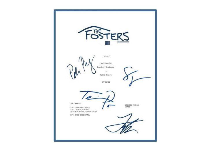 The Fosters Pilot Episode Autographed: Teri Polo, Sherri Saum, Jake T. Austin, Peter Paige