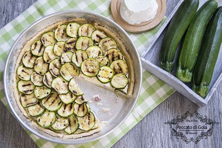 Crostata+salata+ricotta+e+zucchine