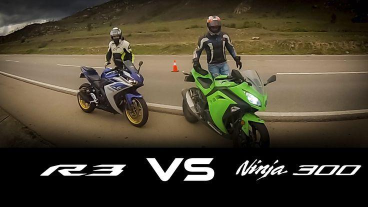 NINJA 300 VS YAMAHA R3 X MOTOS drag race