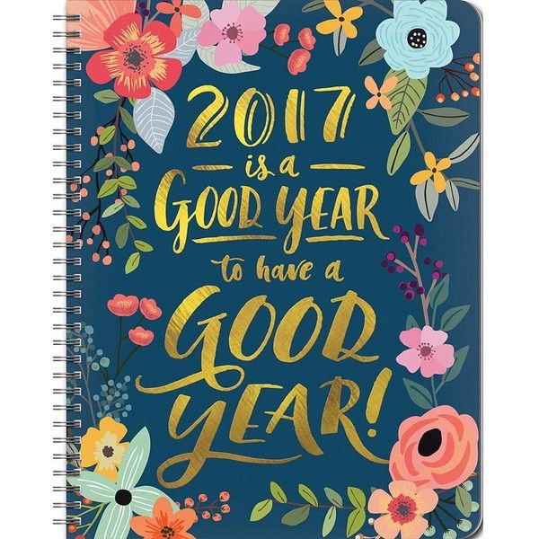 Good Year 2017 Planner (1.045 RUB) ❤ liked on Polyvore featuring home and home decor