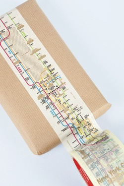 city maps as wrapping - have tons of brown paper that this would be perfect for! :)