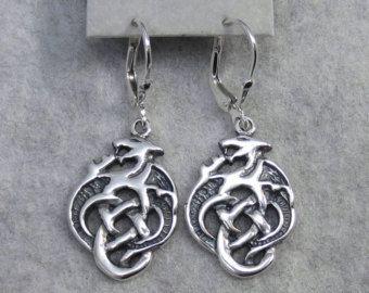 Bronzene keltische Drachen Amulett Talisman 3D von MAGICrebEL