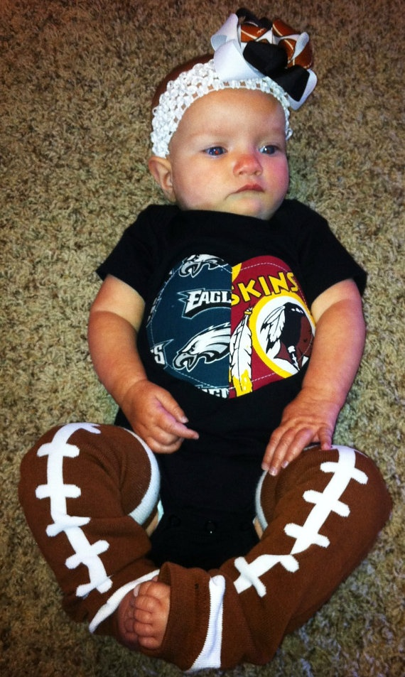 How funny... even though I want all Redskins gear for my baby, I still think this will take second to my baby ever wearing Eagles anything.